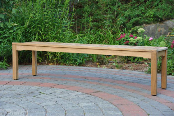 Picture of Teak Rosemont Backless Bench 6ft