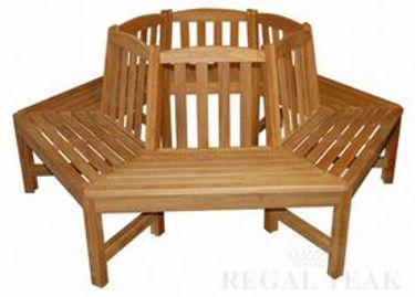 Picture of Teak Tree Bench