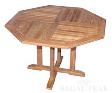 Picture of Teak Octagon Table 52in