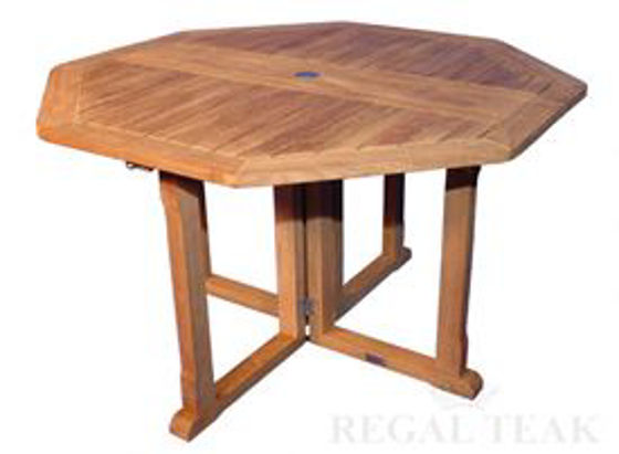 Picture of Teak Octagon Collapsible Table 48in