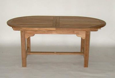 Picture of Oval Extension Table 43.5in W X 67in (Closed), 84in Open