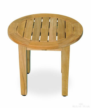 Picture of Teak Round End Table 18.5in Dia