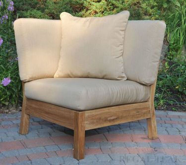 Picture of Teak Deep Seating Sectional Corner Unit w Cushions
