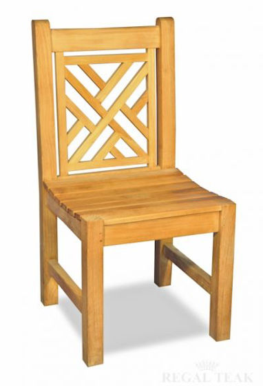 Picture of Teak Chippendale Chair Without Arms