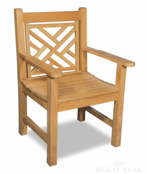 Picture of Teak Chippendale Chair