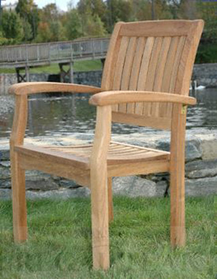 Picture of Teak Stacking Chair