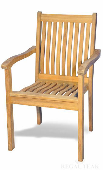 Picture of Teak Tisbury Stacking Chair with Arms (set of 4)