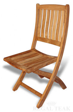 Picture of Teak Providence folding chair without arms