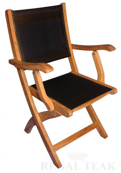 Picture of Teak Providence Chair with Batyline Black