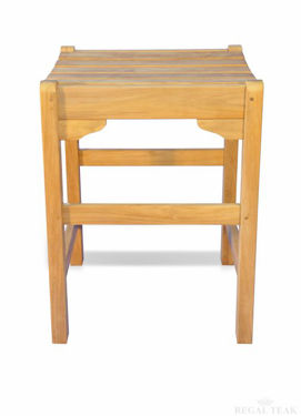 Picture of Teak Counter Height Stool