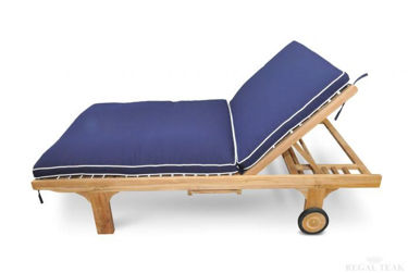 Picture of Teak Double Chaise Sun Lounger Cushions